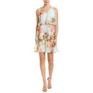 Donna Ricco Floral Tiered Ruffled Dress Sleeveless